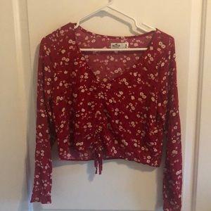 Floral hollister shirt